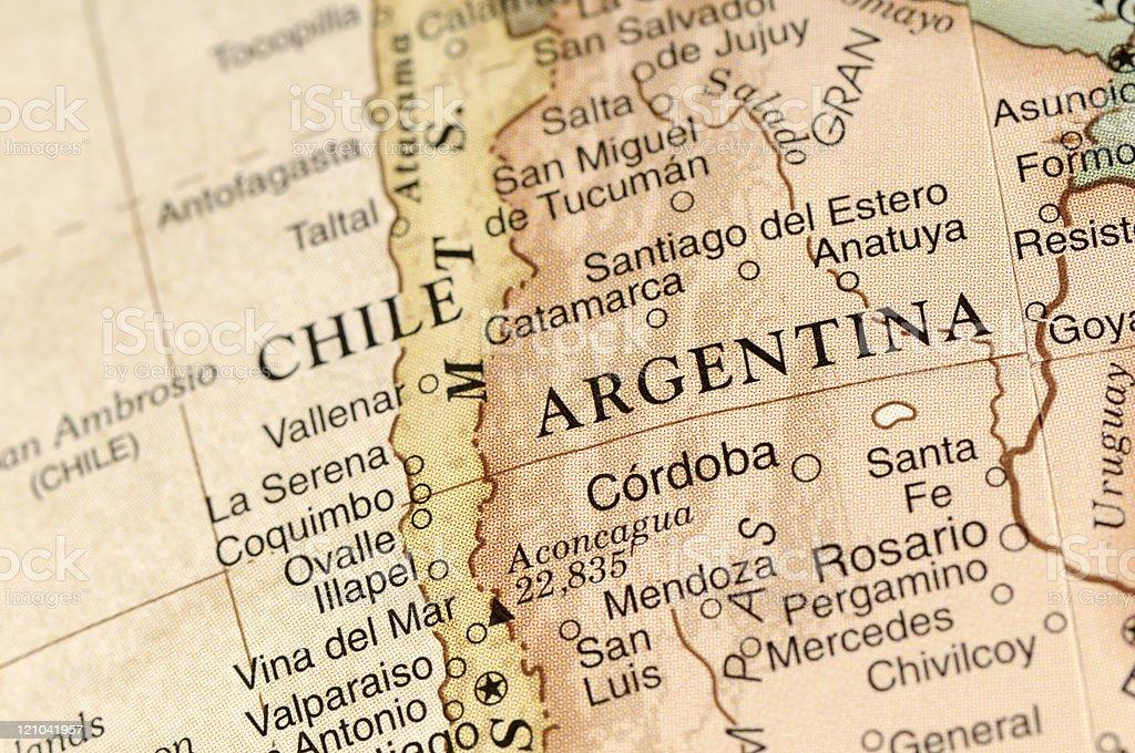 Argentina y Chile - foto de stock