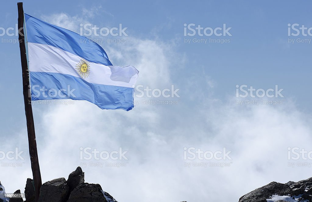 Argentina Bandera Patagonia stock photo