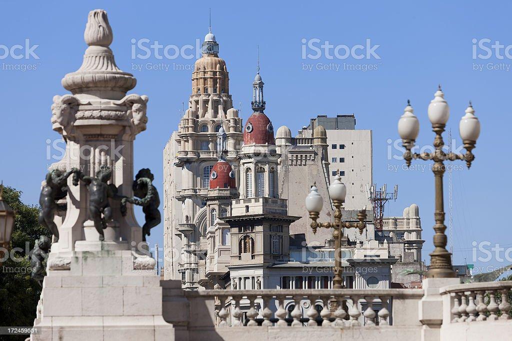 Argentina Buenos Aires Av. de Mayo Palacio Barolo stock photo