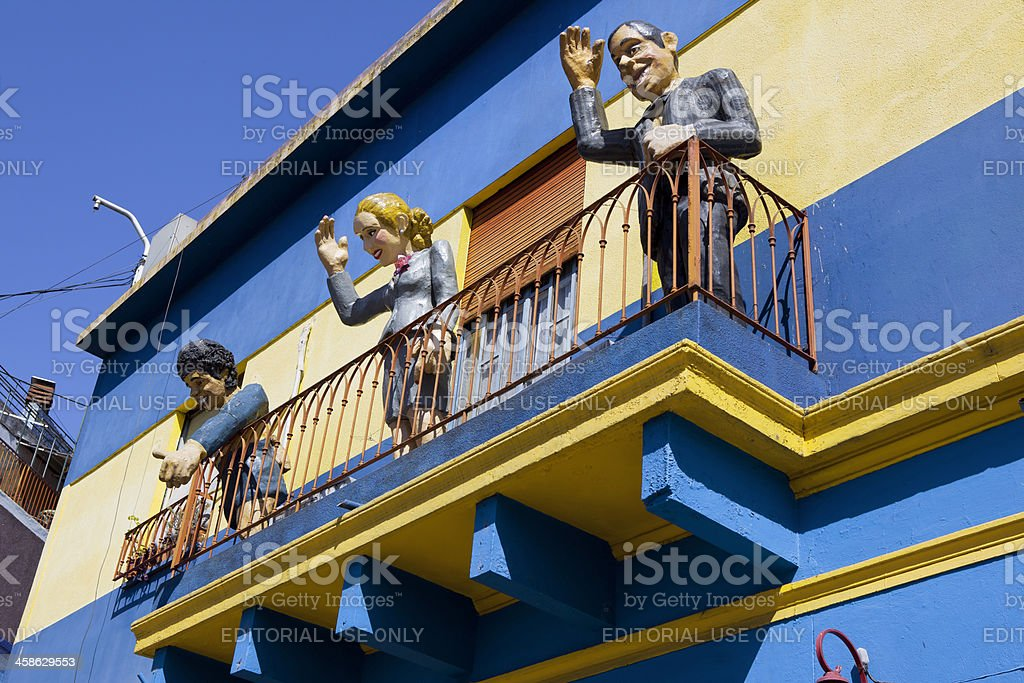 Аргентина, Буэнос-Айрес Каминито Ла Бока Марадона Evita - Стоковые фото Diego Maradona роялти-фри