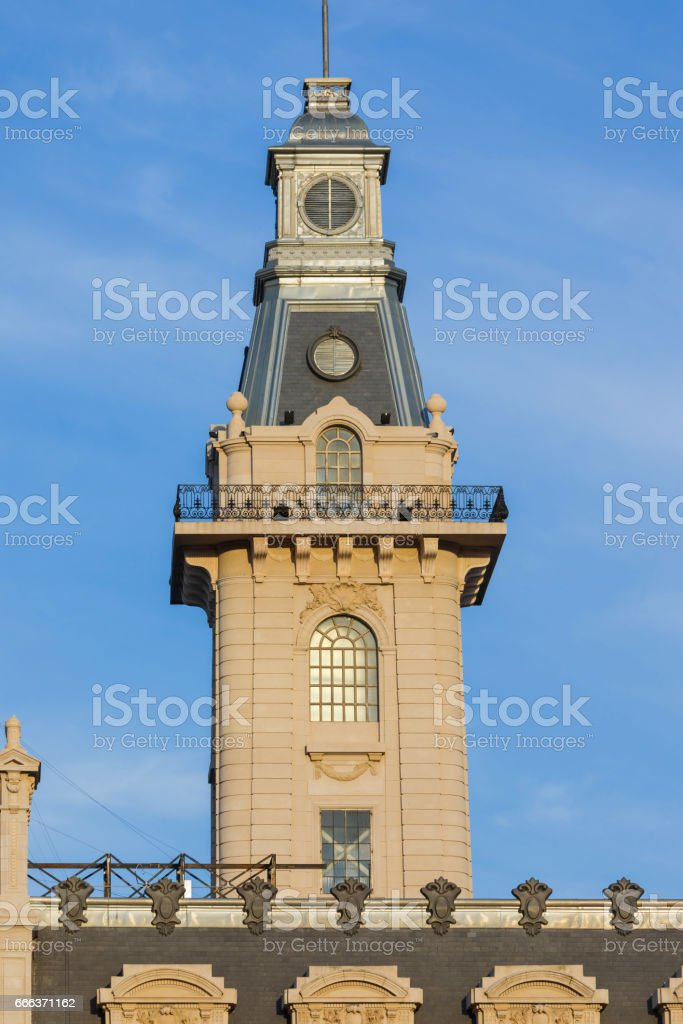 Argentina Buenos Aires Customs house aduana tower stock photo
