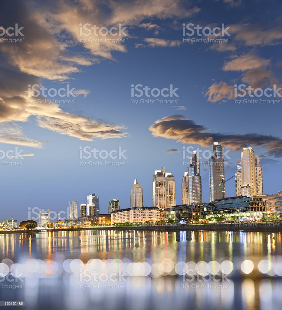 Argentina Buenos Aires Puerto Madero at dawn stock photo