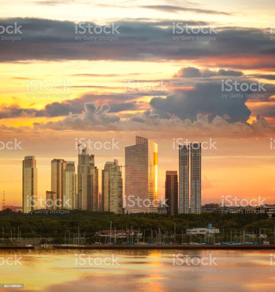 Argentina Buenos Aires Puerto Madero seen from the river stock photo