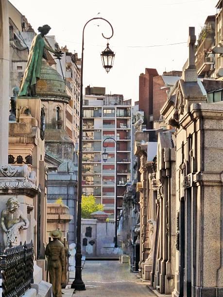 Argentina Chacarita Cemetery 01 stock photo
