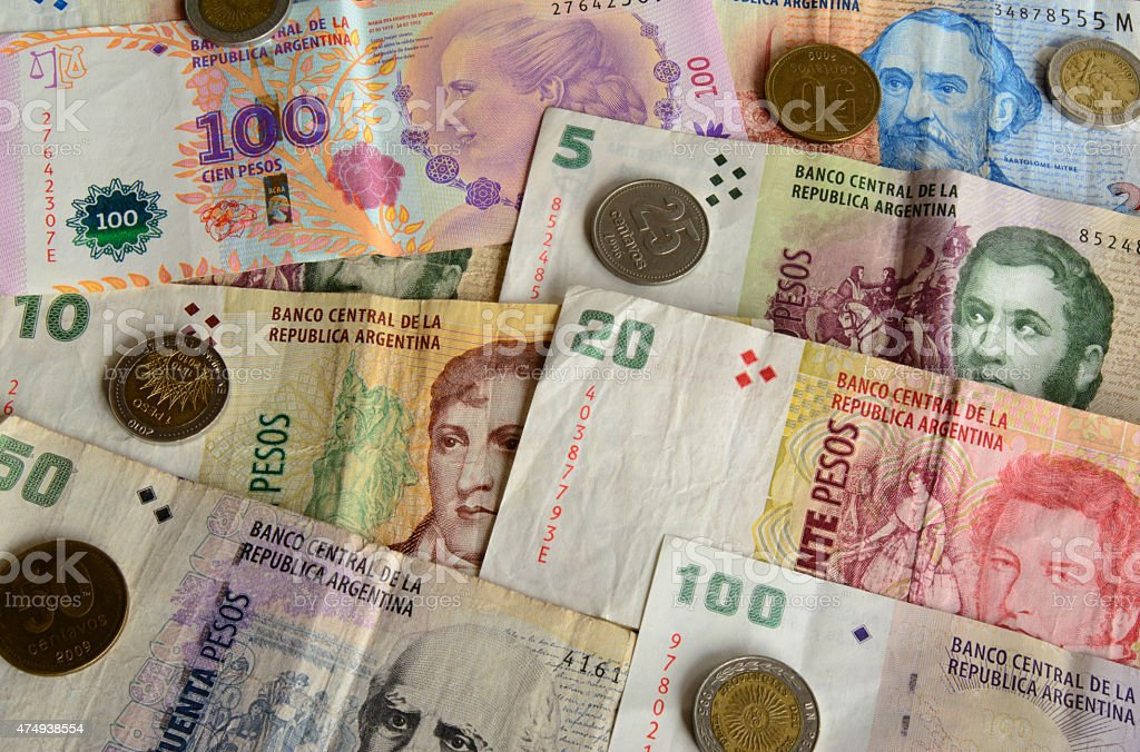 Argentina Currency stock photo