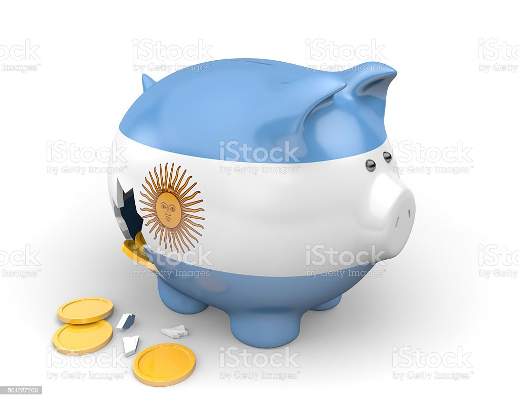 Argentina economy and finance concept for poverty and national debt stock photo