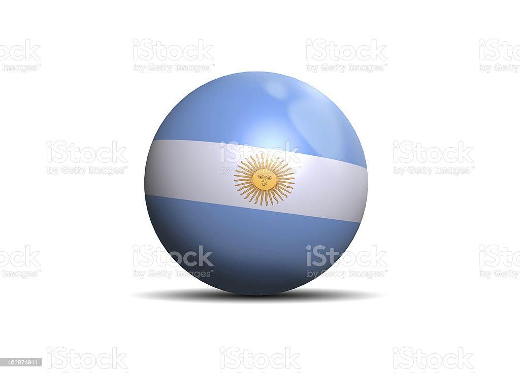 Argentina flag bola - foto de stock
