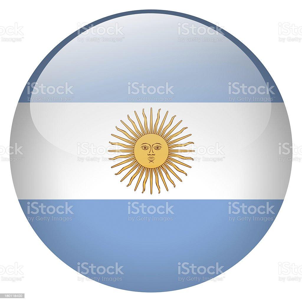 argentina flag button stock photo