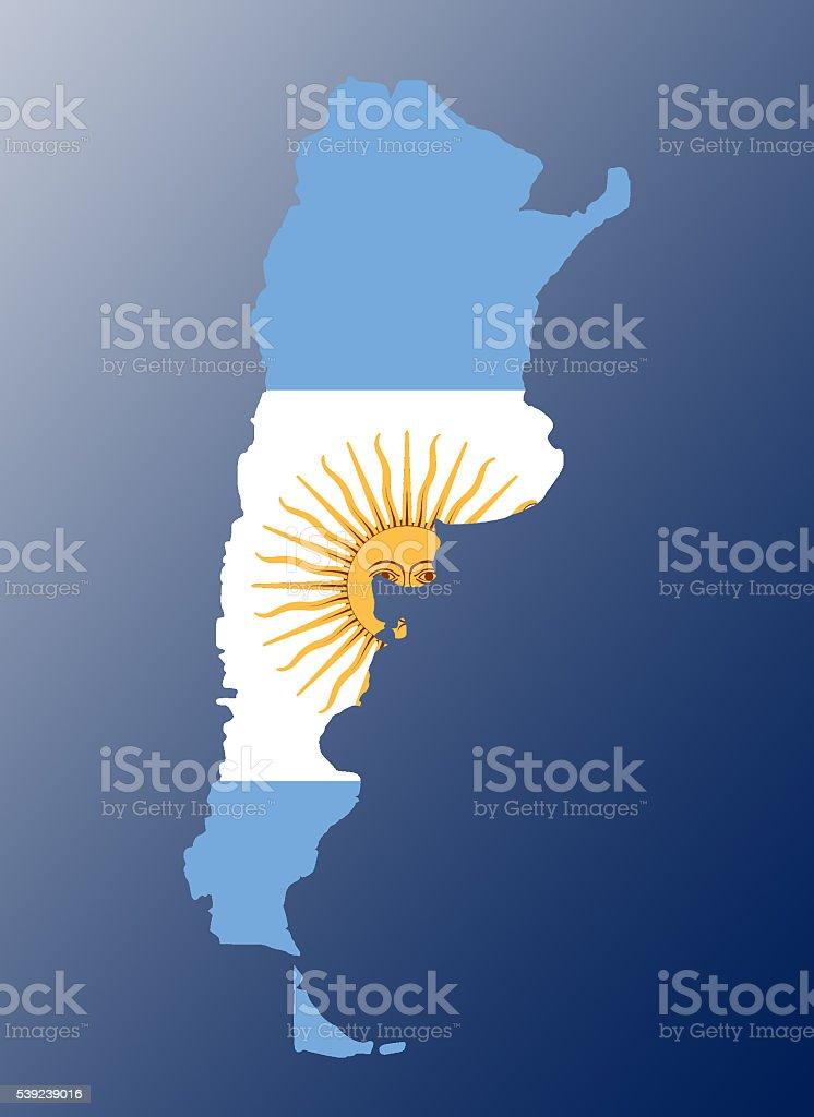 Argentina flag map foto de stock libre de derechos