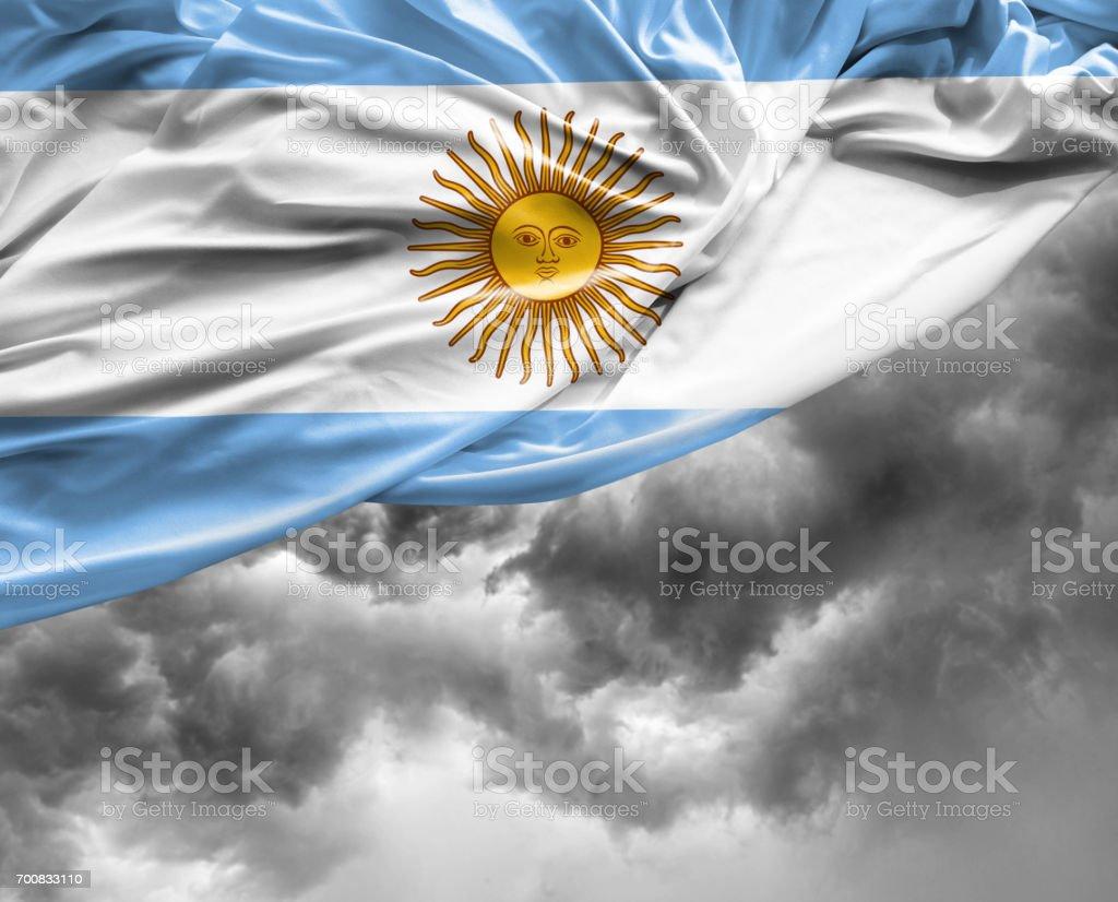 Bandera de Argentina en un mal día - foto de stock