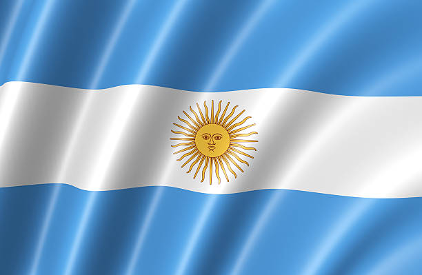 Argentina Flag stock photo