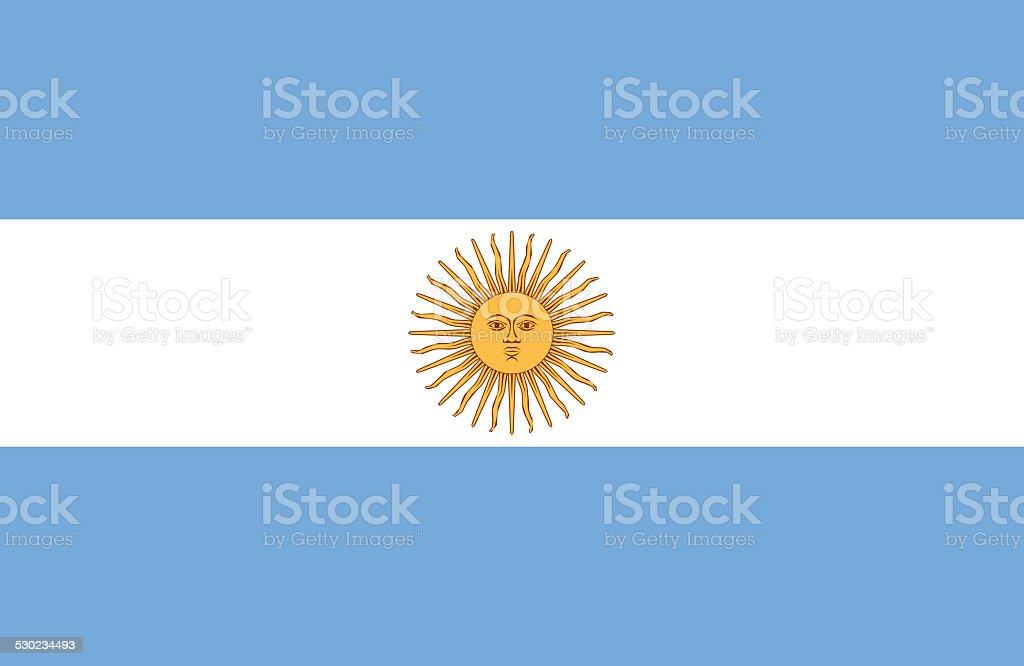 Argentina Flag stock photo