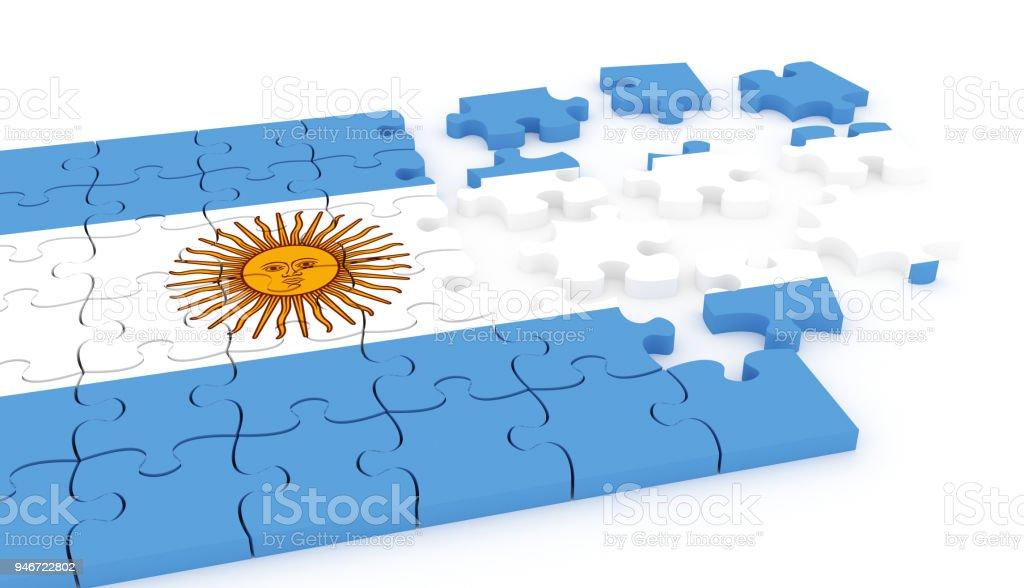 Puzzle de bandera de Argentina - foto de stock