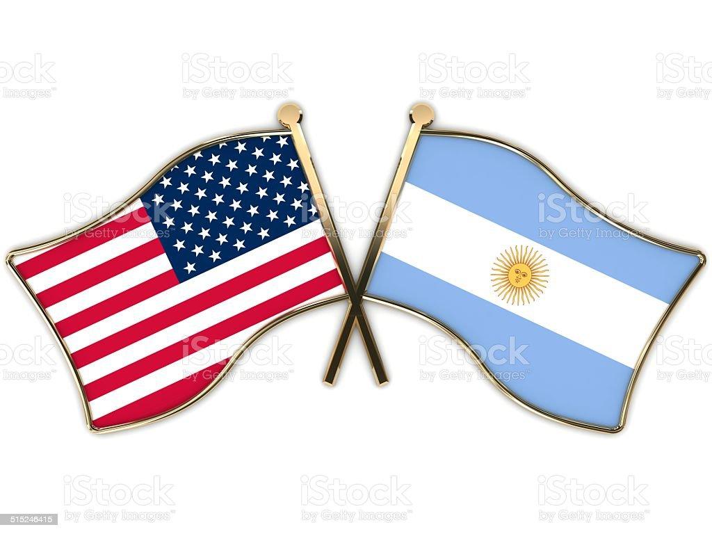 USA Argentina Flags tarjeta - foto de stock
