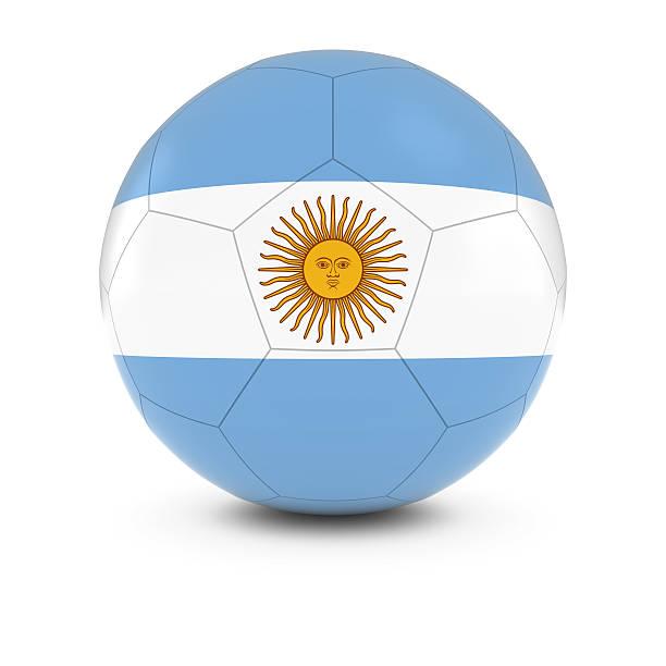 Cтоковое фото Аргентина футбол-Argentinan Флаг на футбольном мяче