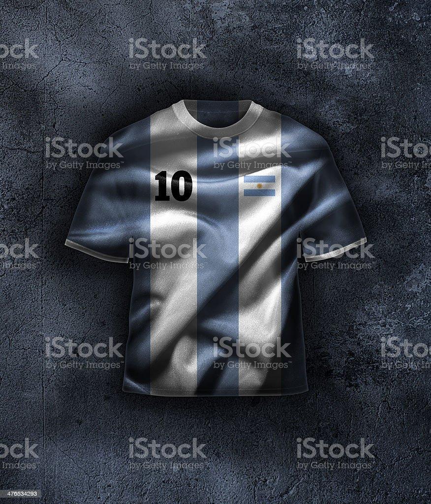 Argentina football t-shirt stock photo