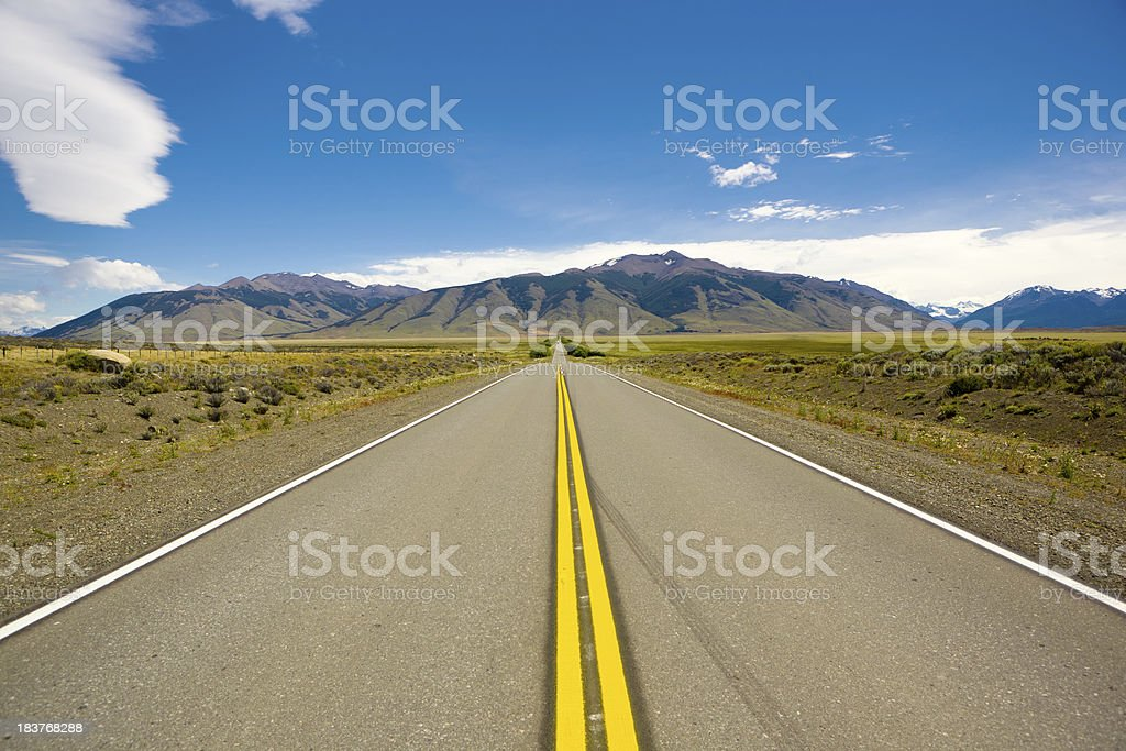 Argentina highway and mountains royalty-free stock photo