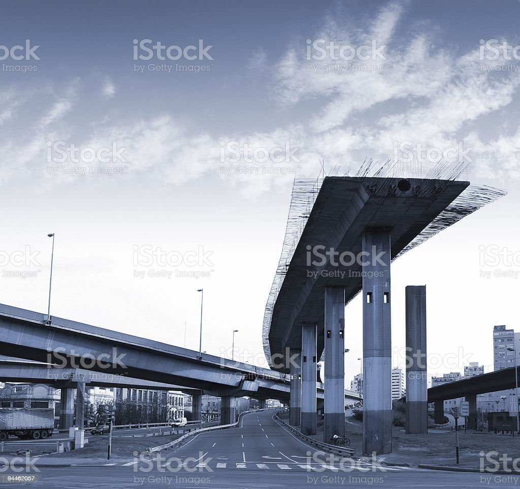 Argentina highway to nonentity in Buenos Aires stock photo