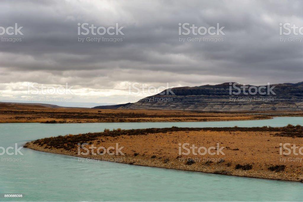Argentina Lago Argentino stock photo