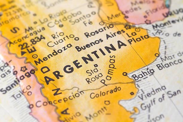 Argentina Map Closeup stock photo