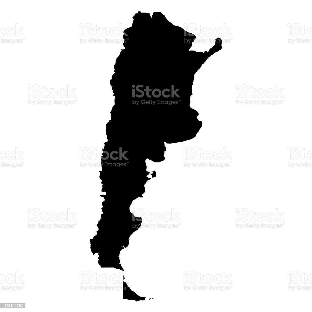 Argentina map on white background vector stock photo