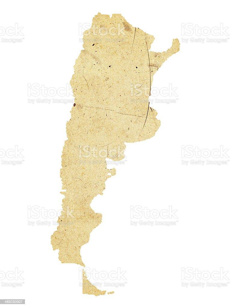 Argentina Map stock photo