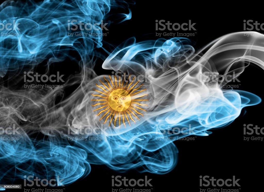 Bandera de humo Nacional Argentina - foto de stock