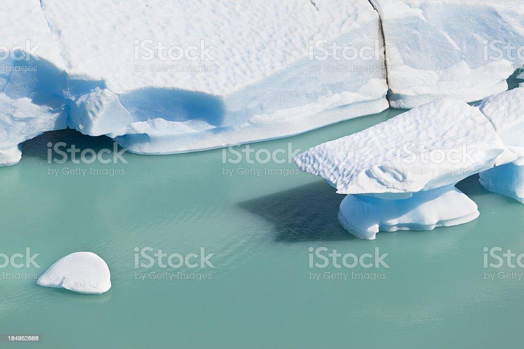 Argentina Patagonia ice floes at Glacier Perito Moreno stock photo