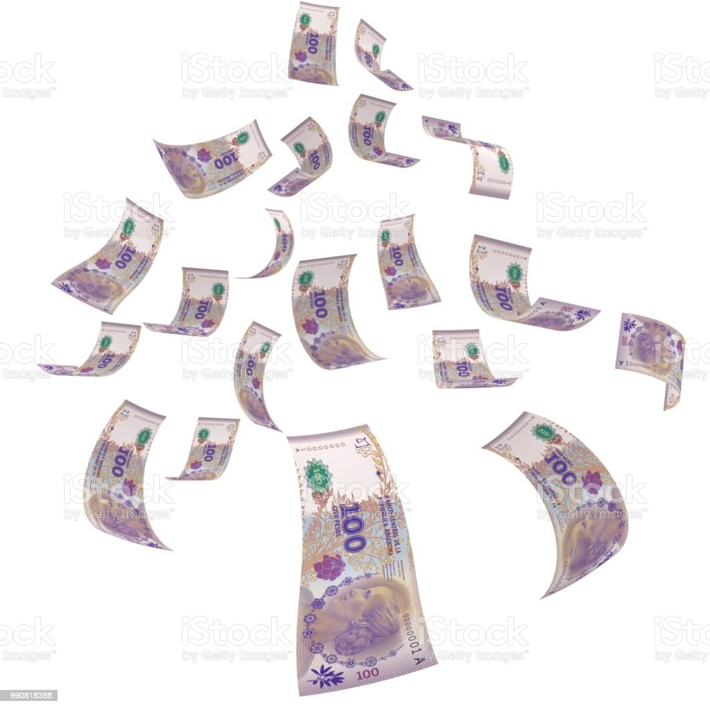 Argentina peso falling money finance crisis stock photo