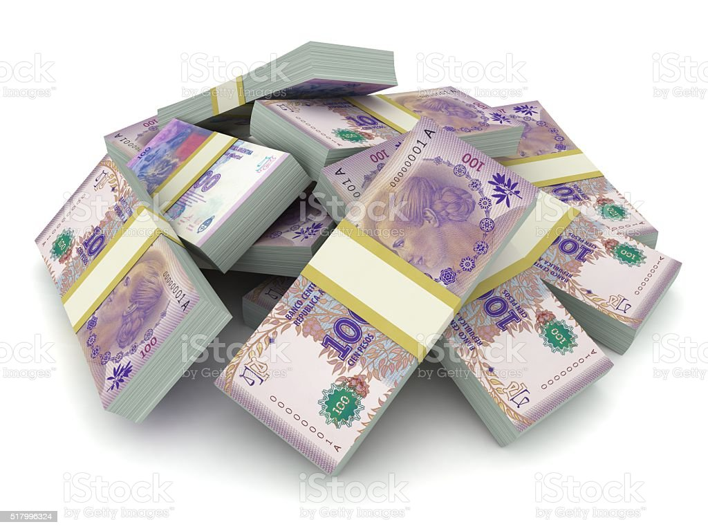 Argentina peso money concept stock photo