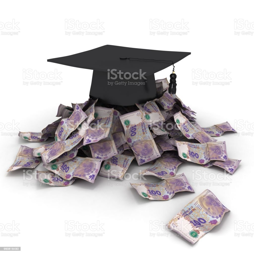 Argentina peso money education student loan stock photo