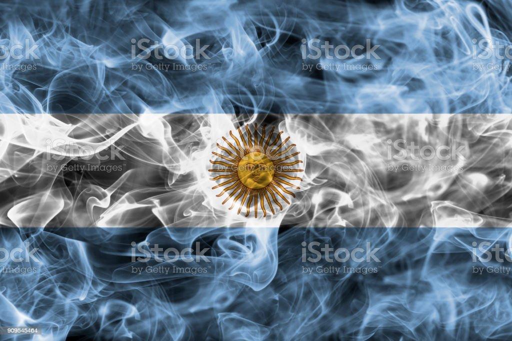 Argentina smoke flag stock photo