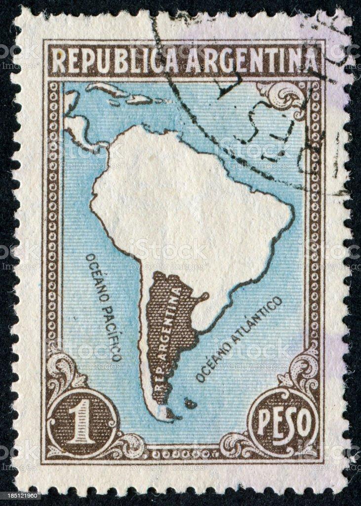 Argentina Stamp stock photo