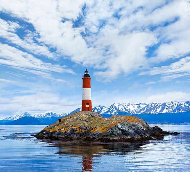 Argentinien Ushuaia bay des Beagle-Kanal mit Les Eclaireurs – Foto