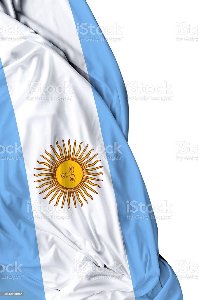 Argentina waving flag on white background stock photo