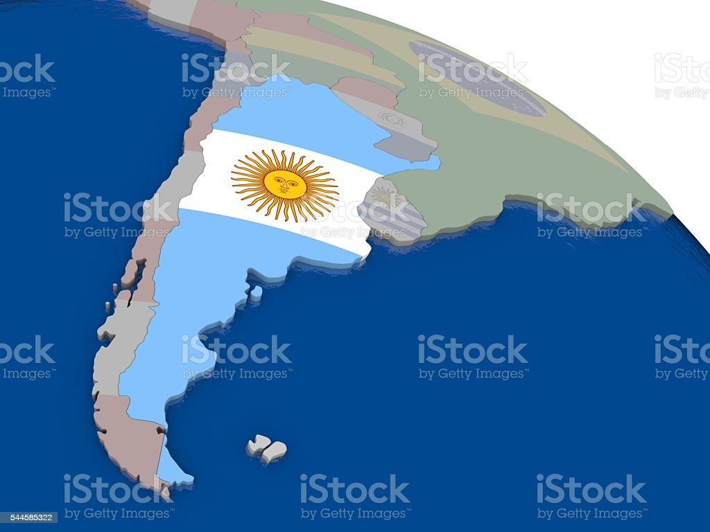 Argentina with flag stock photo
