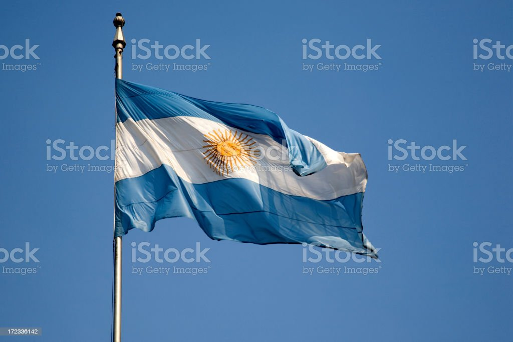 Argentinan Flag stock photo