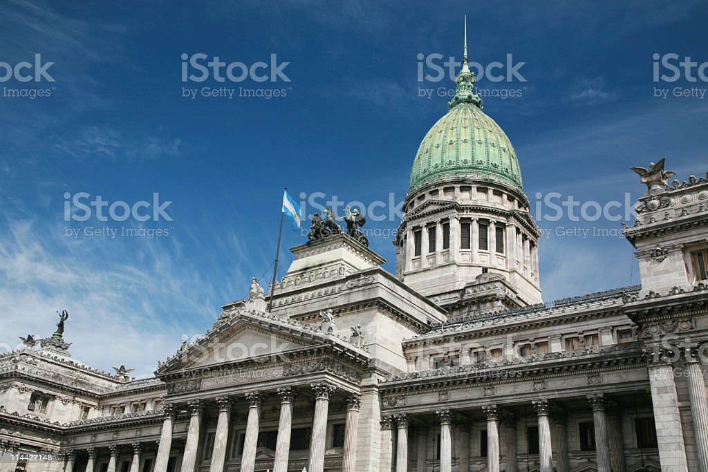 Argentina's National Congress in Buenos Aires royalty-free stock photo
