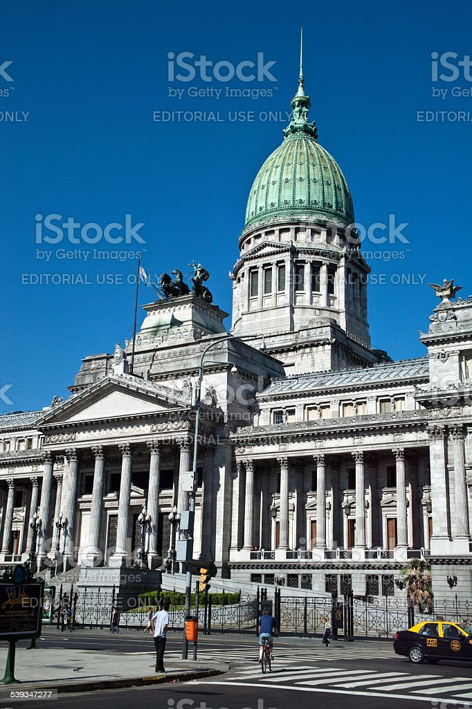 Argentina's National congresso em Buenos Aires - foto de acervo