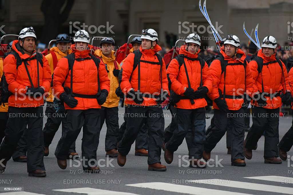 Argentine Antarctic army forces stock photo