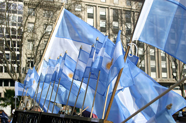 Argentine colors stock photo