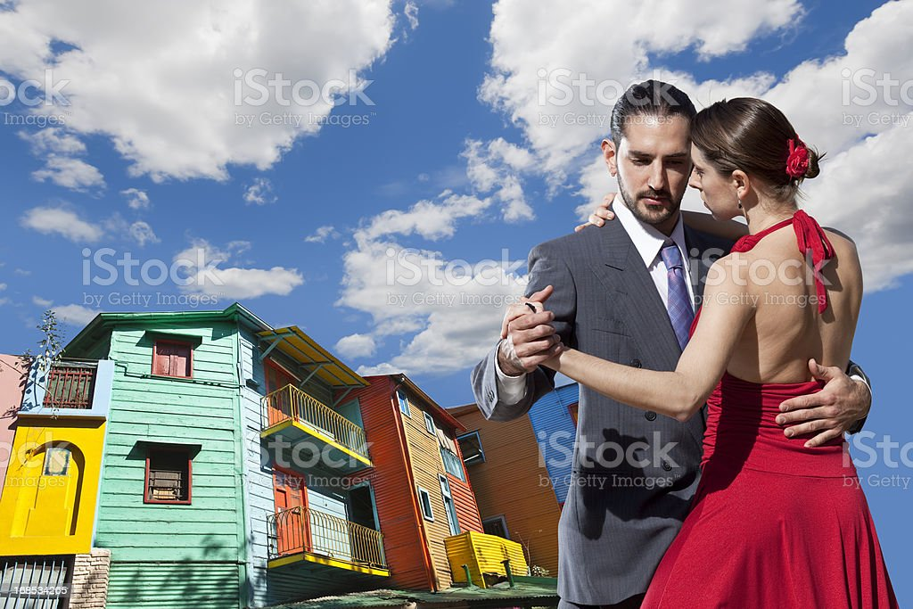 Argentine couple dancing tango in Buenos Aires royalty-free stock photo