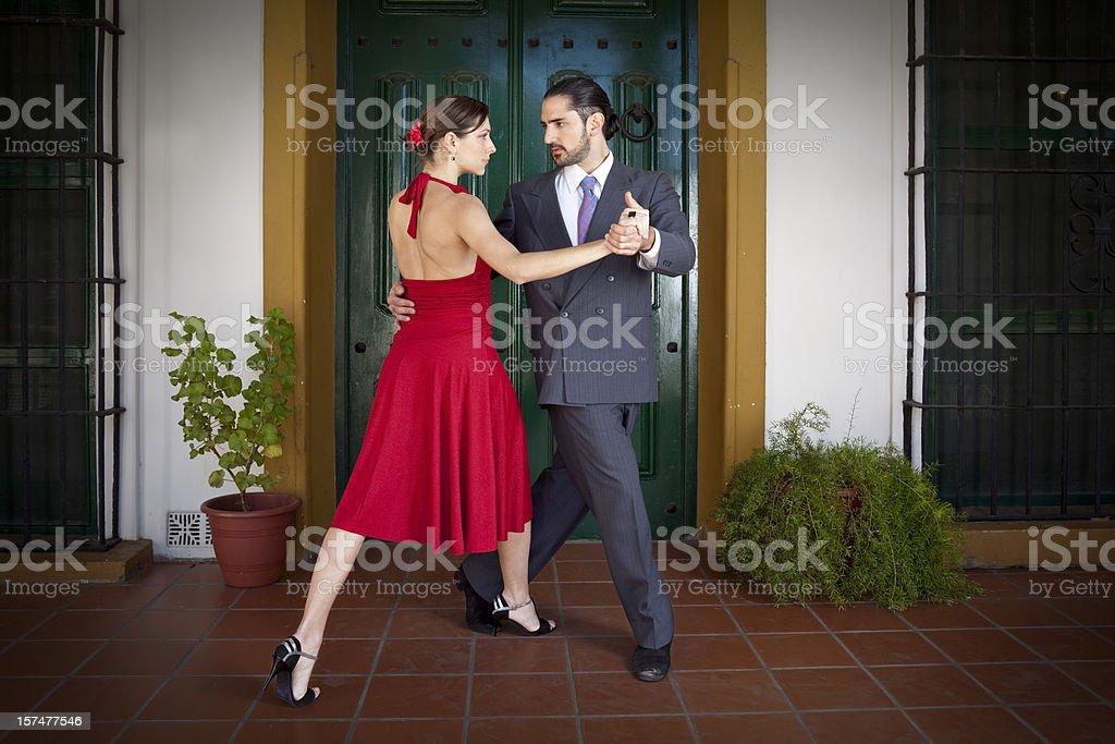Argentine couple dancing tango royalty-free stock photo
