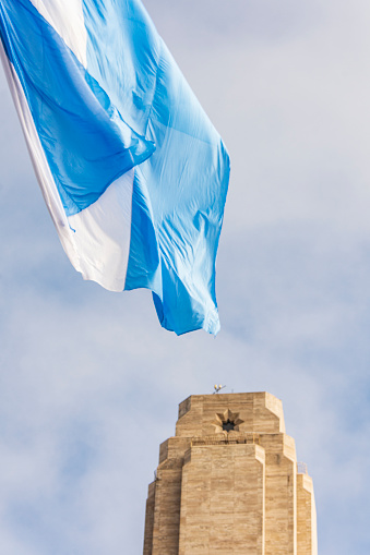 Argentine flag and Memorial to Argentine flag