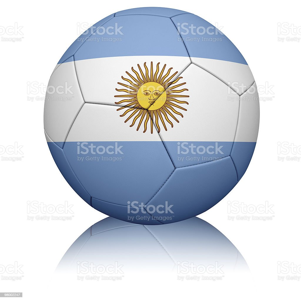 Argentine Flag Football royalty-free stock photo