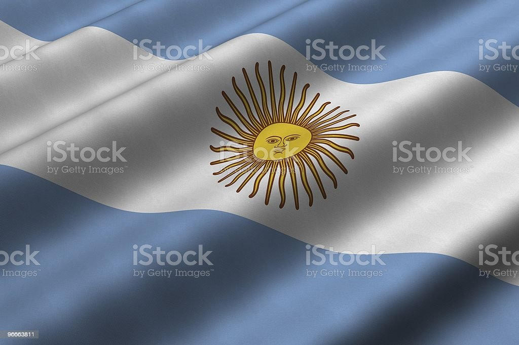Argentine flag waving in the wind stock photo