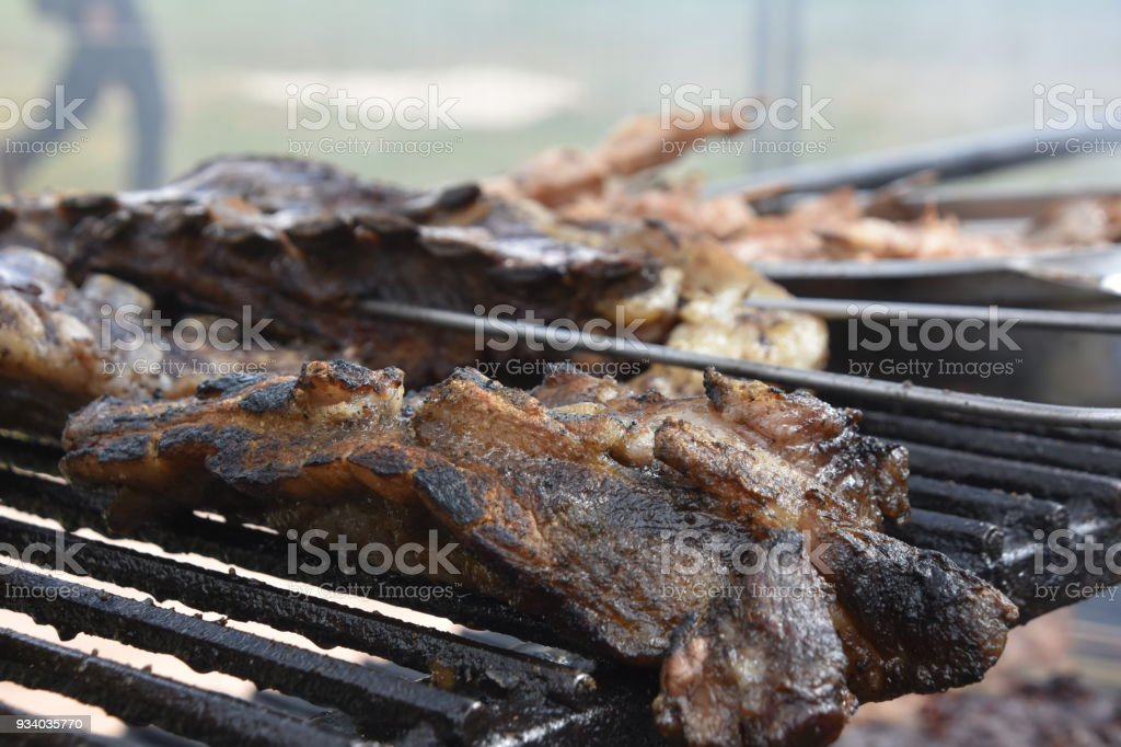 Argentine Meat On The Grill Stock Photo - Download Image Now - iStock