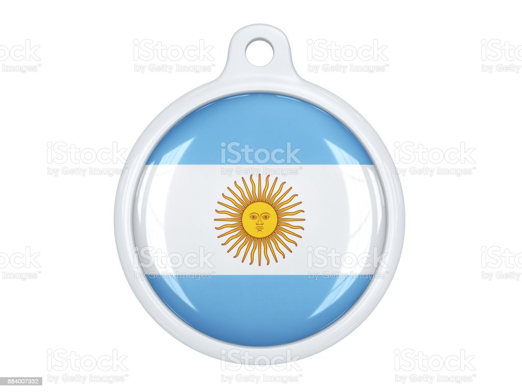 Argentine medal stock photo