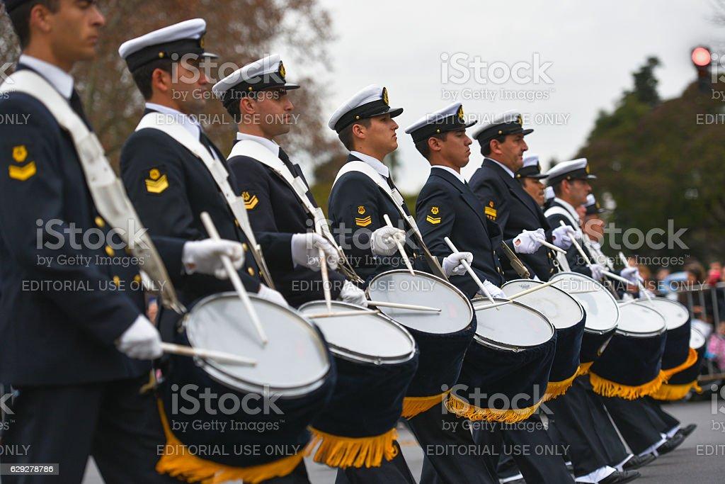Argentine military band stock photo