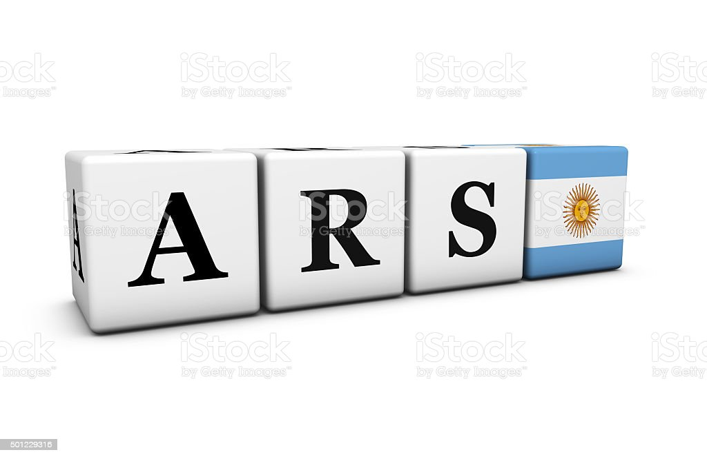 Ars Argentine Peso Currency Of Argentina Stock Photo More Pictures